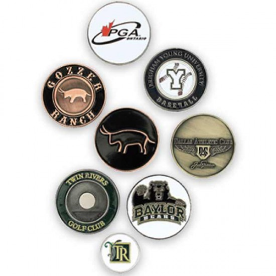 Custom Logo  Oval Shape Hat Clip With Magnetic Ball Marker And Hidden Magnet